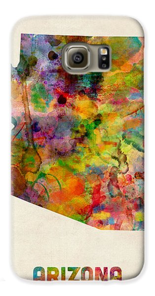 Arizona Watercolor Map Galaxy S6 Case by Michael Tompsett