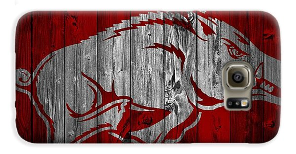 Arkansas Razorbacks Barn Door Galaxy S6 Case by Dan Sproul