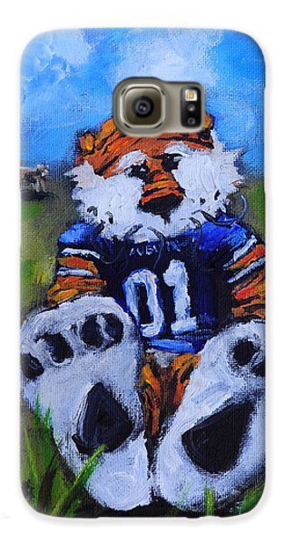 Aubie With The Cows Galaxy S6 Case by Carole Foret