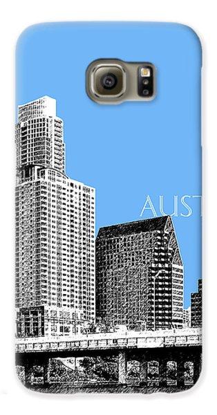 Austin Skyline - Sky Blue Galaxy S6 Case by DB Artist