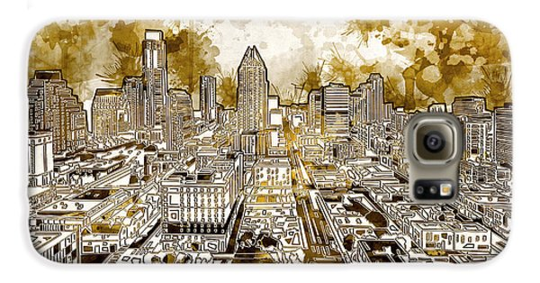 Austin Texas Abstract Panorama 6 Galaxy S6 Case by Bekim Art