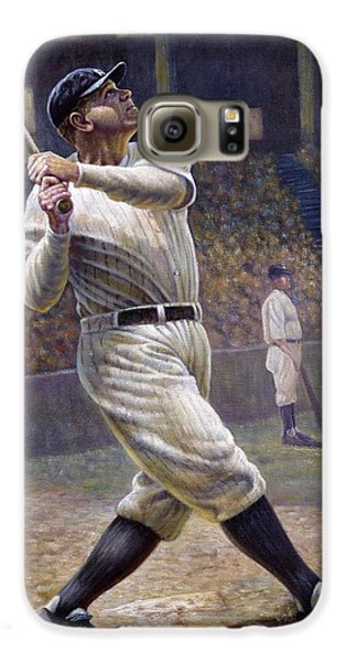 Babe Ruth Galaxy S6 Case by Gregory Perillo
