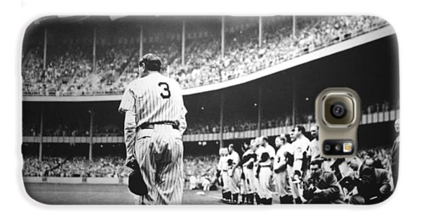Babe Ruth Poster Galaxy S6 Case by Gianfranco Weiss
