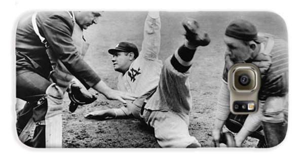 Babe Ruth Slides Home Galaxy S6 Case by Underwood Archives