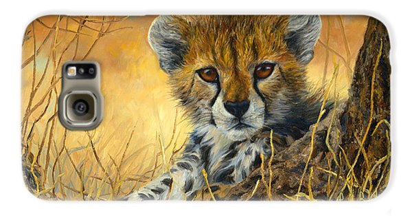 Baby Cheetah  Galaxy S6 Case by Lucie Bilodeau