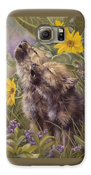 Baby Wolves Howling Galaxy S6 Case by Lucie Bilodeau