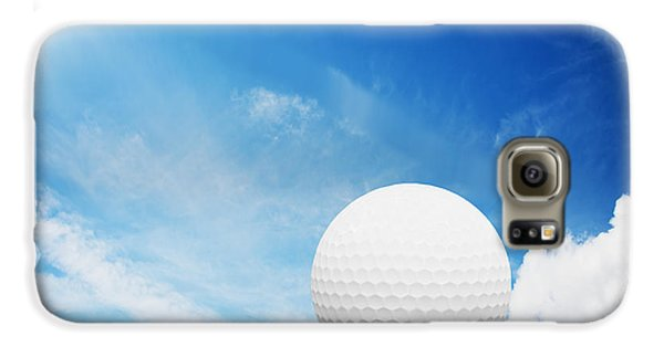 Ball On Tee On Green Golf Field Galaxy S6 Case by Michal Bednarek