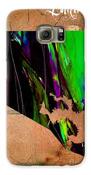 Baltimore Map Watercolor Galaxy S6 Case by Marvin Blaine