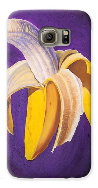 Banana Half Peeled Galaxy S6 Case by Karl Melton