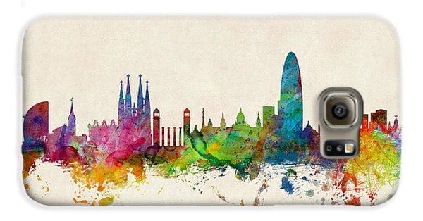 Barcelona Spain Skyline Galaxy S6 Case by Michael Tompsett