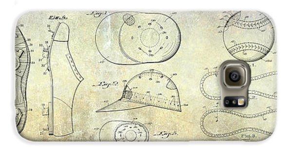 Baseball Patent Panoramic Galaxy S6 Case by Jon Neidert