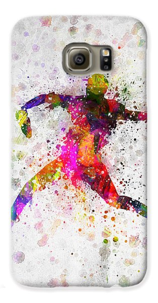 Baseball Player - Pitcher Galaxy S6 Case by Aged Pixel