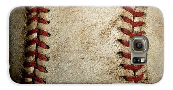 Baseball Seams Galaxy S6 Case by David Patterson