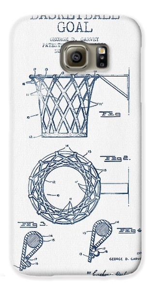 Basketball Goal Patent From 1951 - Blue Ink Galaxy S6 Case by Aged Pixel