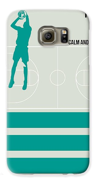 Basketball Poster Galaxy S6 Case by Naxart Studio