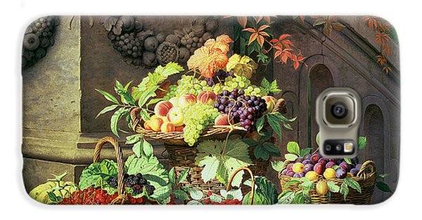 Baskets Of Summer Fruits Galaxy S6 Case by William Hammer