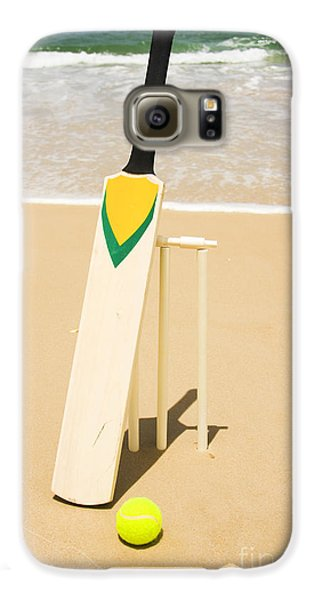 Bat Ball And Stumps Galaxy S6 Case by Jorgo Photography - Wall Art Gallery