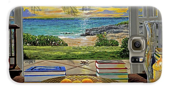 Beach View Galaxy S6 Case by Carey Chen