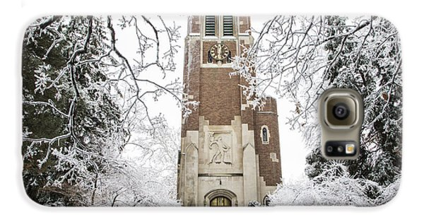 Beaumont Tower Ice Storm  Galaxy S6 Case by John McGraw