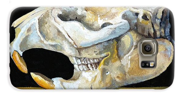 Beaver Skull 1 Galaxy S6 Case by Catherine Twomey