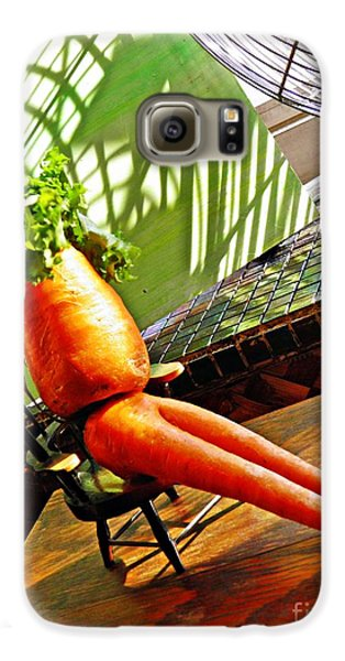 Beer Belly Carrot On A Hot Day Galaxy S6 Case by Sarah Loft