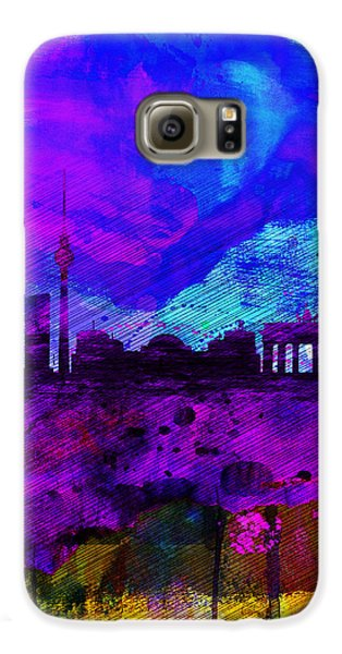Berlin Watercolor Skyline Galaxy S6 Case by Naxart Studio
