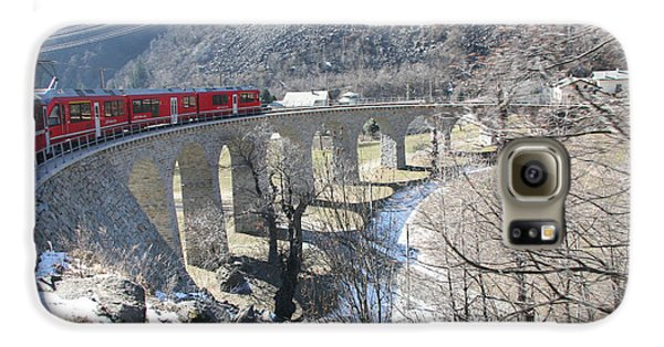Galaxy S6 Case featuring the photograph Bernina Express In Winter by Travel Pics