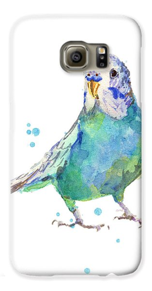 Bertie Wonderblue The Budgie Galaxy S6 Case by Alison Fennell