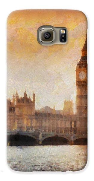 Big Ben At Dusk Galaxy S6 Case by Pixel Chimp