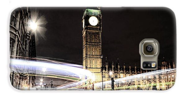 Big Ben With Light Trails Galaxy S6 Case by Jasna Buncic