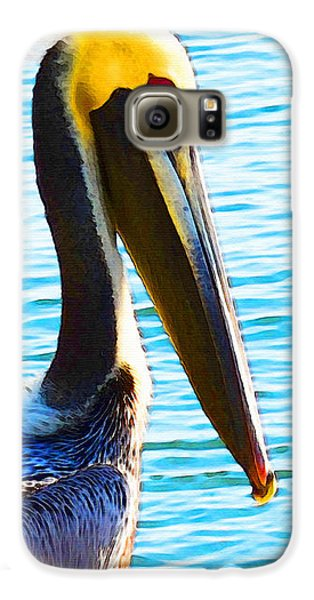 Big Bill - Pelican Art By Sharon Cummings Galaxy S6 Case by Sharon Cummings