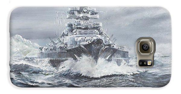 Bismarck Off Greenland Coast  Galaxy S6 Case by Vincent Alexander Booth
