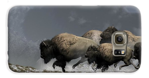Bison Stampede Galaxy S6 Case by Daniel Eskridge