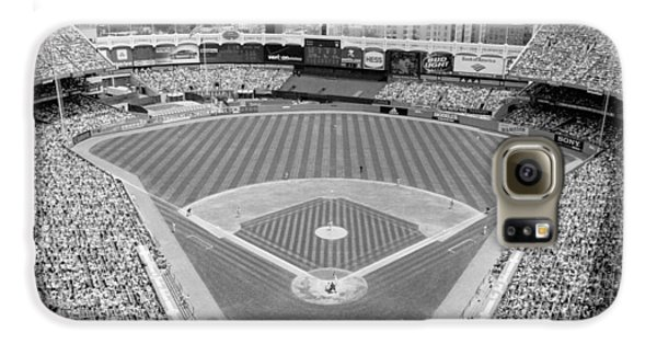 Black And White Yankee Stadium Galaxy S6 Case by Horsch Gallery