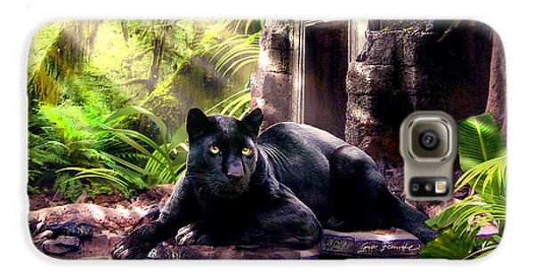 Black Panther Custodian Of Ancient Temple Ruins  Galaxy S6 Case by Regina Femrite