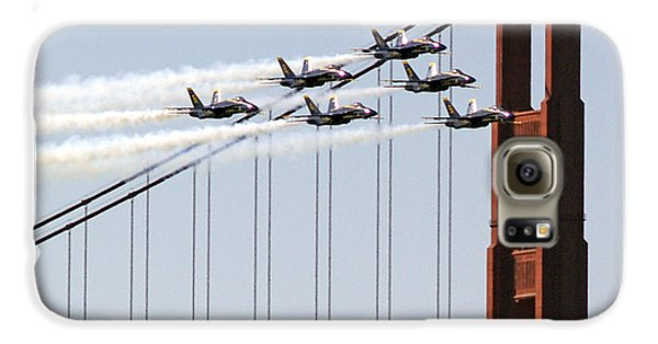 Blue Angels And The Bridge Galaxy S6 Case by Bill Gallagher