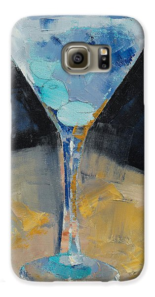Blue Art Martini Galaxy S6 Case by Michael Creese