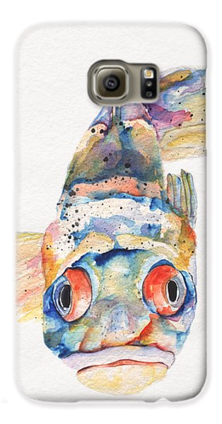 Blue Fish   Galaxy S6 Case by Pat Saunders-White