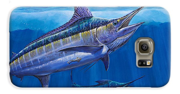 Blue Marlin Bite Off001 Galaxy S6 Case by Carey Chen