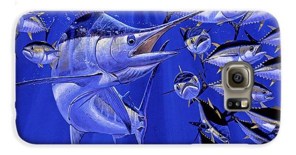 Blue Marlin Round Up Off0031 Galaxy S6 Case by Carey Chen