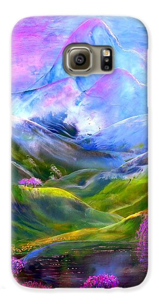 Blue Mountain Pool Galaxy S6 Case by Jane Small