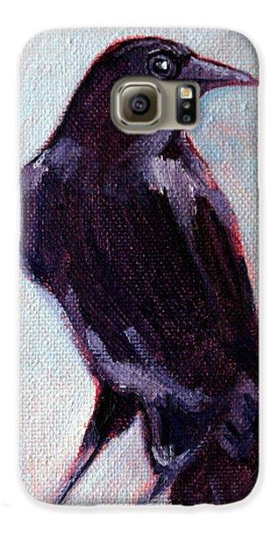 Blue Raven Galaxy S6 Case by Nancy Merkle