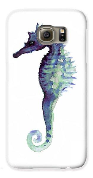 Blue Seahorse Galaxy S6 Case by Joanna Szmerdt