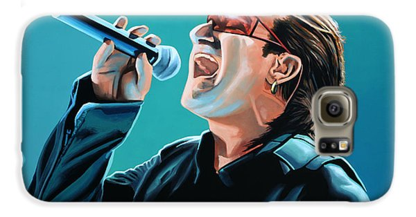 Bono Of U2 Painting Galaxy S6 Case by Paul Meijering