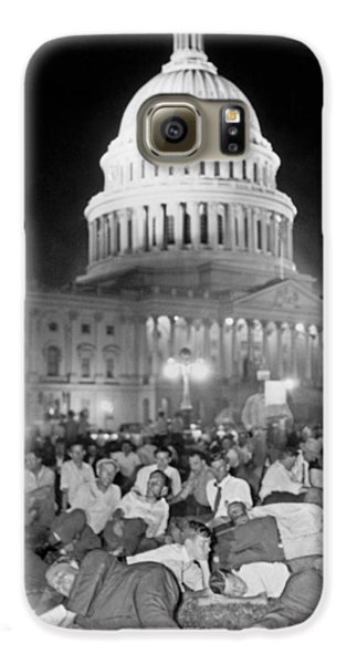 Bonus Army Sleeps At Capitol Galaxy S6 Case by Underwood Archives