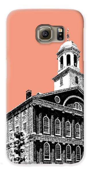 Boston Faneuil Hall - Salmon Galaxy S6 Case by DB Artist