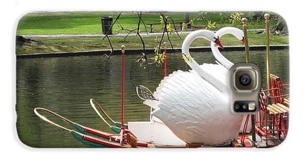 Boston Swan Boats Galaxy S6 Case by Barbara McDevitt