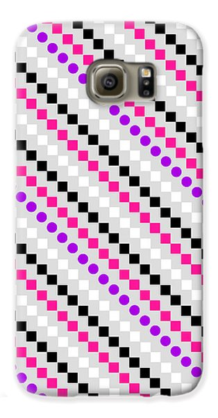 Boxed Stripe Galaxy S6 Case by Louisa Hereford