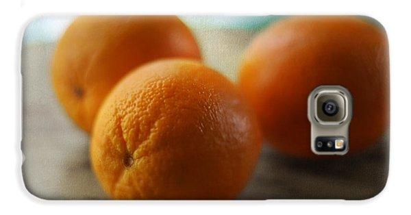 Breakfast Oranges Galaxy S6 Case by Amy Tyler