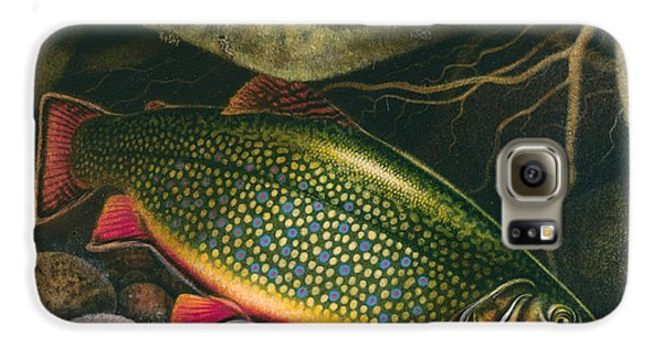 Brook Trout Lair Galaxy S6 Case by JQ Licensing